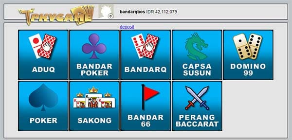 deposit bandarq pkv games